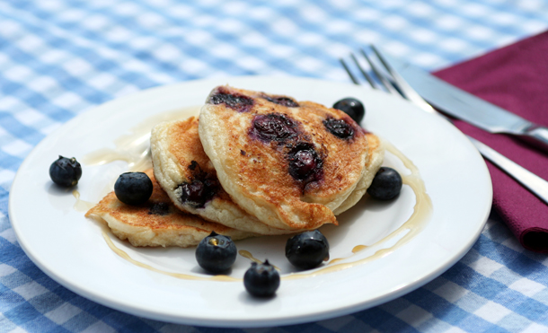 Blueberry and Cottage Cheese Pancakes   The Sweetest Brunch